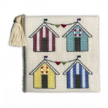 Beach Huts  Needle Case Cross Stitch Kit
